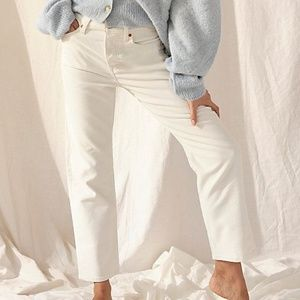 Levi's Wedgie Straight Leg White Cord Jeans 33